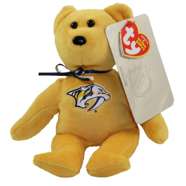 2018 NHL Ty Beanie Baby Hockey Bear Nashville Predators 8 Inch in Hand c5c031719bb5