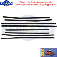67-68 Impala Top Catwhiskers Window Felt Fuzzies Windowfelt 4 Door Hardtop 8 Pcs
