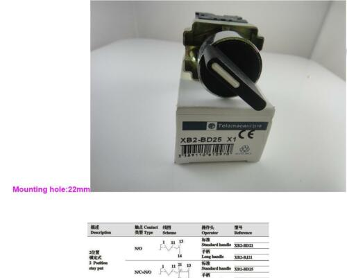 2 Position N0 NC Maintained Select Selector Switch XB2 BD25
