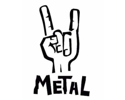 Metalica Megade Pantera Metal Decal Sticker Black Sabbath Slipknot Slayer