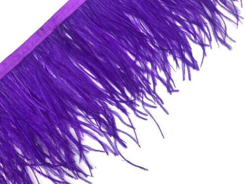 1 Yard Purple Ostrich Fringe Trim Wholesale Feather Craft Supply Wedding Prom