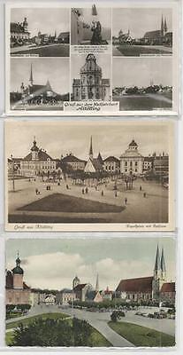 Ansichten Neueste Technik 3 Postkarten Aus Altötting: Kapellplatz Div Rahthaus