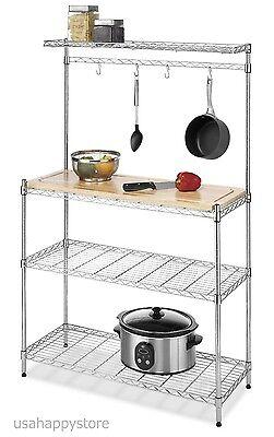 Cutting Board Shelf Kitchen Rack Storage Stand Organizer Adjustable Shelves  Hook