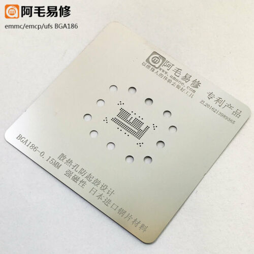 0.15MM EMMC EMCP UFS BGA153 BGA162 BGA169 BGA186 BGA221 BGA254 Reballing Stencil
