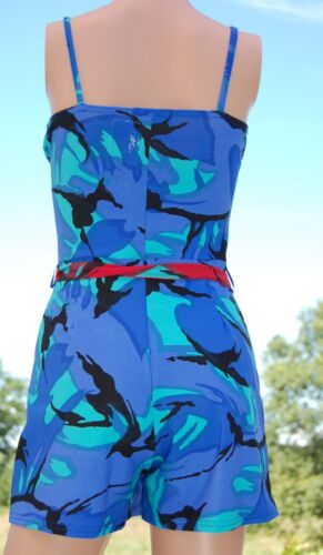 313 LADIES PRINTED STRAP BELTED PLAY-SUIT by MISS BLUSH size8//10//12//14