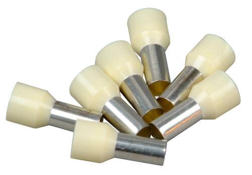 Kopp sollicitent endhülsen avec col en plastique 25 unités ivoire 16 mmâ²