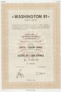 """washington 81"" Societe Anonyme 1980 Komplette Artikelauswahl"