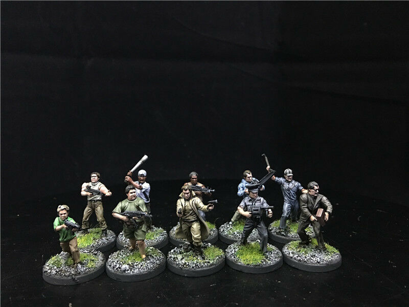 28mm Ministerio de Seguridad Pública Pintado proyecto Z sobrevivientes & Street Gangs Zombies, Warlord Games 5207