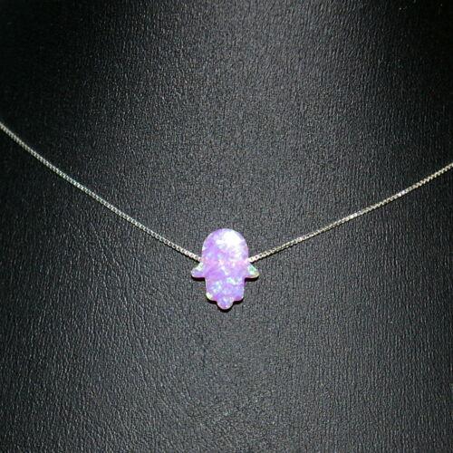 3 pieces 13x11mm PINK OPAL HAMSA Fatima Hand Gemstone Bead Charm Pendants Lot