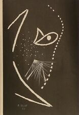 André VERDET (1913-2004) Linogravure signée / Abstract / Abstrait / Abstrak