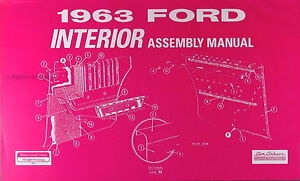 1963 ford galaxie interior assembly manual 63 seats carpet