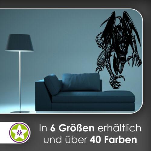Drachen Biest Wandtattoo KIWISTAR Aufkleber Wall Sticker waf0030