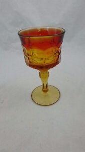 Indiana-Tiara-Constellation-Sunset-Ambelrina-Tall-Glass-Goblets-Vintage