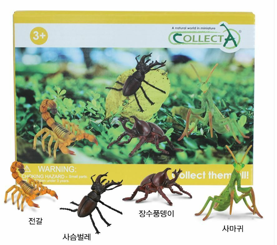 Collecta 89994 Caption Box Insect Insect Insect Figure Set(4pcs) Animal Figure Toy 0c5961