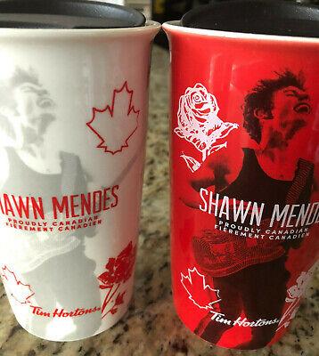 "Shawn Mendes New Limited Edition /""White/"" Ceramic Tim Hortons Travel Mug"