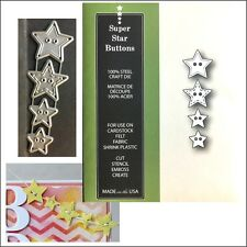 Super Star Buttons metal die set Poppystamps dies 1415 All Occasion,sewing theme
