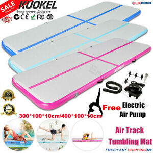3//4//6m Air Track Gymnastics GONFIABILE Tappetino Sport Tumbling FLOOR MAT POMPA