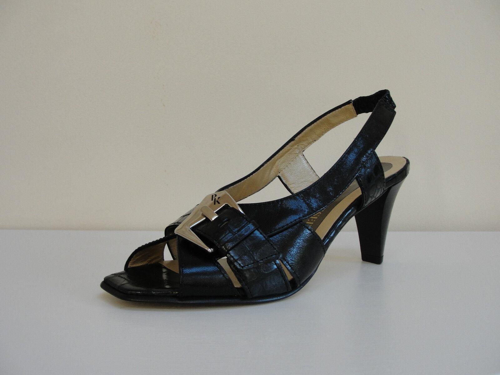 Peter Kaiser Faria black leather open toe slingbacks, UK 3 EU 36,   BNWB