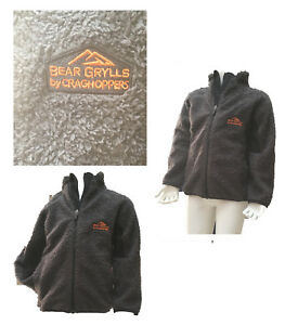 bbb3cf700bfd Bear Grylls by Craghoppers Basecamp Full Zip Fleece - Black Pepper ...