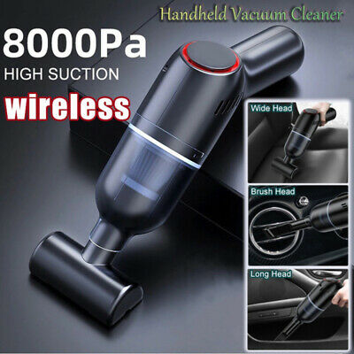 Details about  Portable 8000Pa Car Vacuum Cleaner Suction Cordless Handheld Rechargeable Duster
