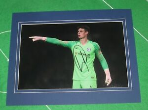 premium selection 03d9c 91031 Details about Kepa Arrizabalaga Signed & Mounted Chelsea FC Action  Photograph