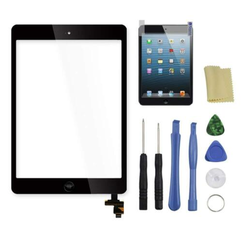 Touch Screen Glass Digitizer Replacement IC+Home Button for iPad Mini 1 2 Black