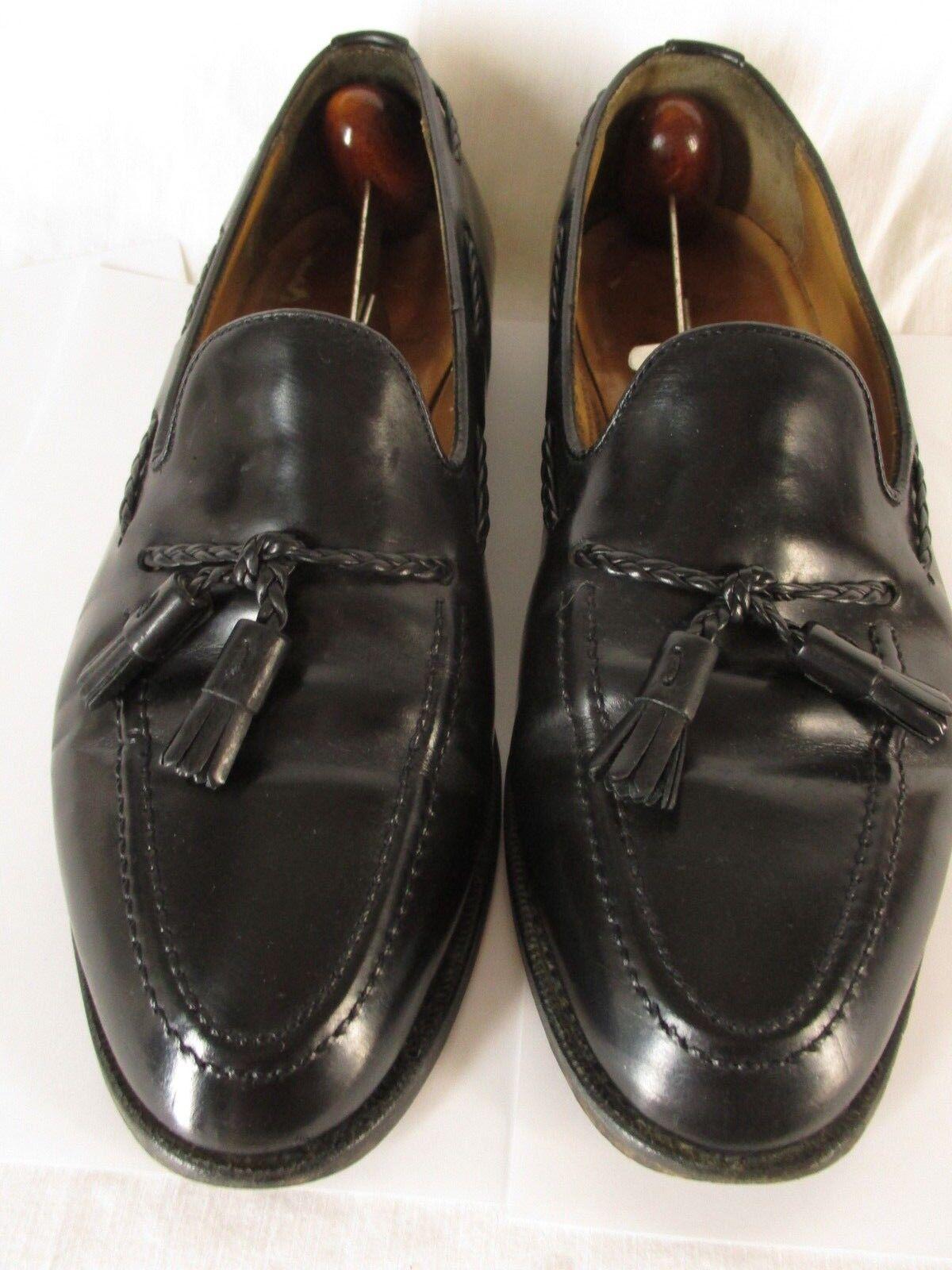 scelta migliore Alfred Sargent Adams Adams Adams Uomo nero Tassel Loafers 9.5E UK  10E US England Made  risparmia fino al 70% di sconto