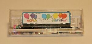Micro-Trains-02100500-N-Scale-Happy-Birthday-40-039-Standard-Box-Car-Plug-Door-LS