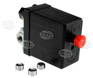 Air-Compressor-Pressure-Switch-1-4-034-BSP-4-Port-Single-Phase-Blanking-Plugs