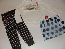 Gymboree Girls Best Friend Girls Size 3 Dot Skirt Top Dot Brown Pants NWT NEW