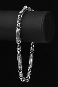 Konstantino-Men-039-s-Slim-Link-Bracelet-925-Sterling-Silver-New