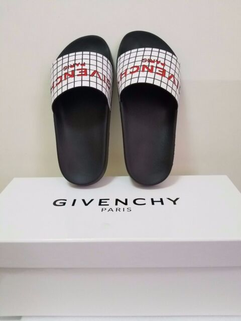 00b918228914 Givenchy Printed Rubber Logo Women Sandal Slide Black   White Size ...