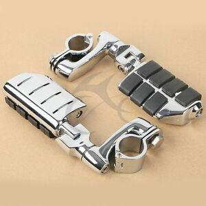 """1-1/4"""" Universal Highway FootPeg Footrest For Harley Engine Guard Crash Bar"""