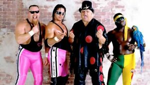 Bret-Hart-Dusty-Rhodes-Jim-Neidhart-Koko-B-Ware-Wrestling-Photograph-8x6-WWF