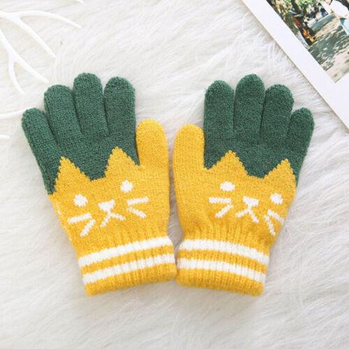 Kid Gloves Winter Warm Thick Soft Gloves Finger Full Warmer Children Mittens