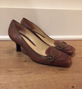 NEW-Cole-Haan-Women-039-s-Leather-Pumps-Brown-Size-5-5