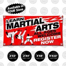 Learn Martial Arts Banner Sign Open Display Self Defense Zumba Yoga Karate Coach