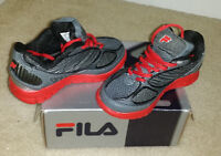 Fila Kids 2a Advanced Running Shoes Sneaker Red Black Gray Kids Size 11
