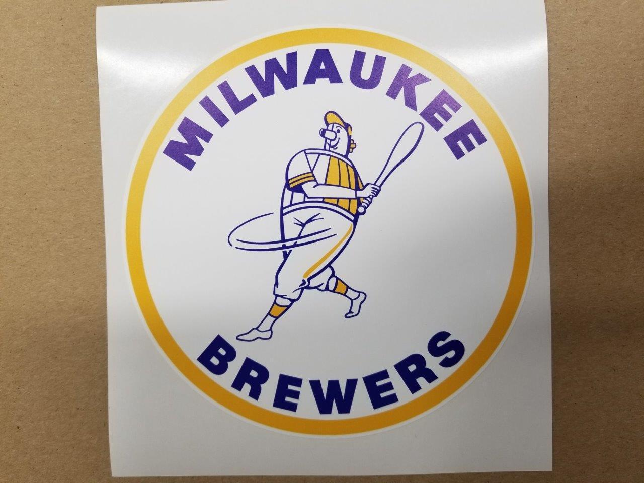 Milwaukee Brewers cornhole board or vehicle decal(s)MB8