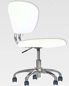 Stupendous Details About Modern White Pu Leather Mid Back Task Chair Office Computer Study Desk Swivel Pdpeps Interior Chair Design Pdpepsorg