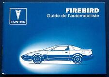 Owner's manual * manual de instrucciones de 1993 Pontiac Firebird (F)