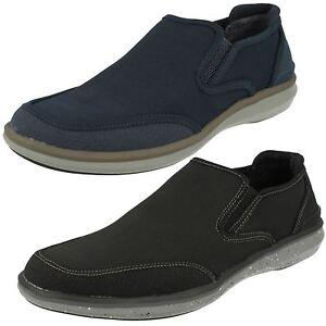 hommes-Mark-Nason-pour-Skechers-Helston-68130-Noir-ou-Marine-extensible