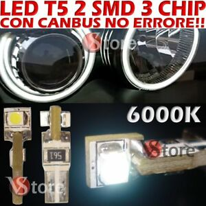 24-LED-T5-SMD-Bianco-Per-Fari-ANGEL-EYES-CAN-BUS-NO-ERRORE-6000K-Per-Depo-FK
