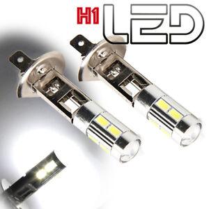 2-ampoules-H1-Blanc-Pur-feux-jour-diurne-via-Brouillard-LED-CREE-Lens