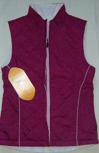 New-Womens-Sunice-Monique-Reversible-Thermal-Vest-Size-S-Cranberry-White