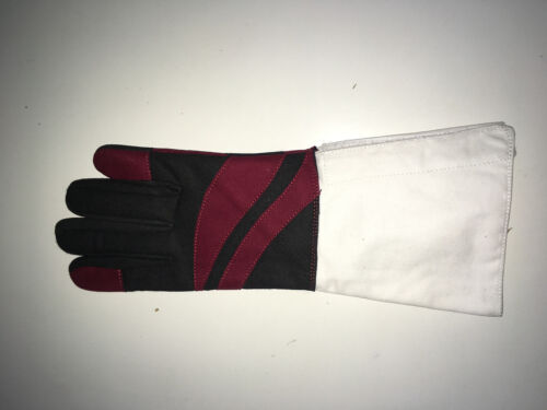 Washable long lasting Foil Epee Fencing Glove with regulation cuff closure