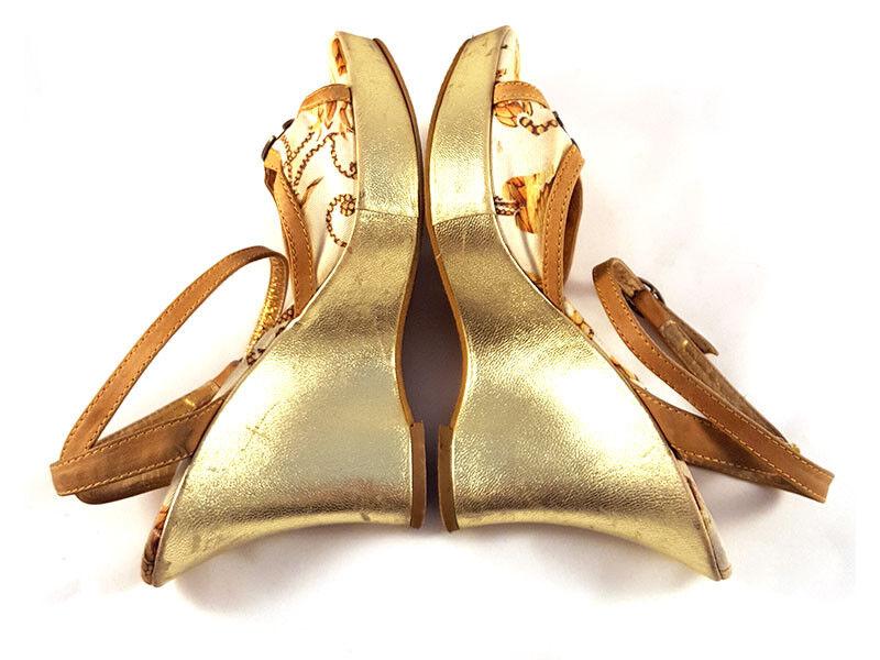 Just Cavalli Canvas Wedge Platform, open toe Größe Pumps, Damens's US shoe Größe toe 6, M 030338
