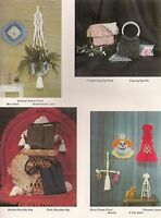 Butterfly Plant Hanger Pattern & More - Craft Book: Judy's Way With Macrame