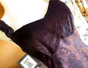 True-Vtg-90s-sz-4-6-STEPPIN-OUT-PURPLE-CRUSHED-VELVET-GOTH-BACK-STRAP-Dress