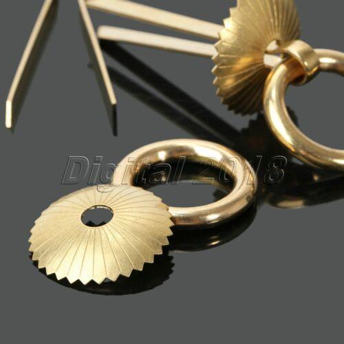 Retro Antique Copper Ring Pull Handle For Furniture Hardware Drawer Door 4Pcs